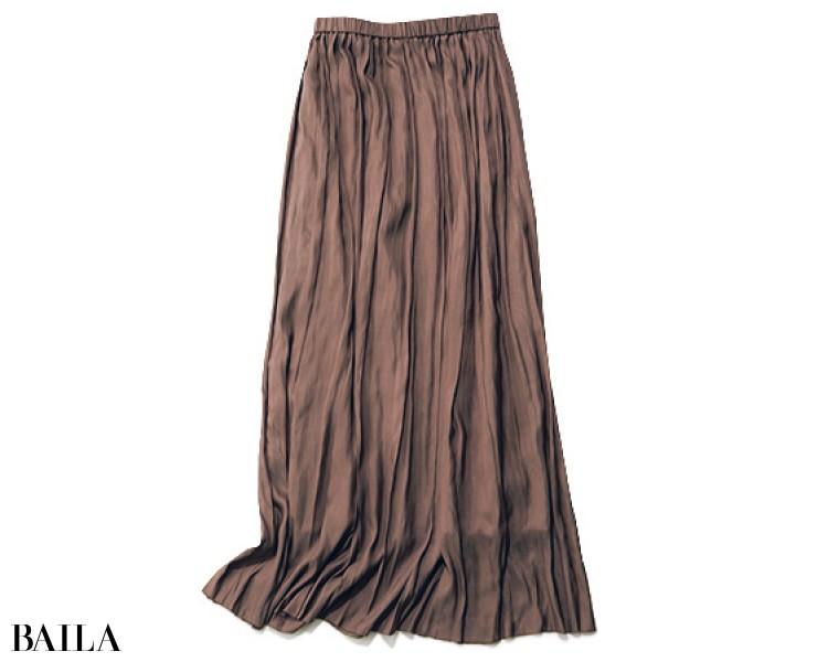 サクラのプリーツスカート