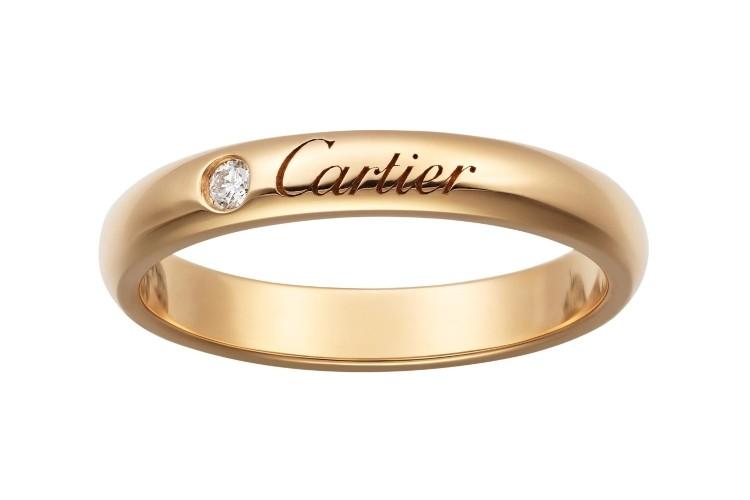 「C ドゥ カルティエ」マリッジリング(PG×ダイヤモンド)¥146,000/カルティエ