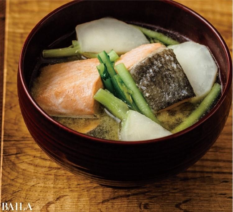 鮭とかぶのみそ汁