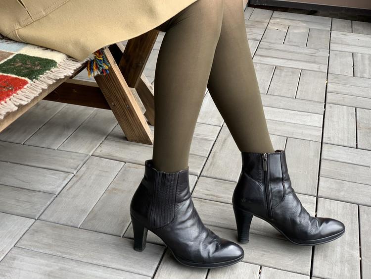 BAILA付録のブラウンタイツと手持ちの靴を合わせてみた!_4