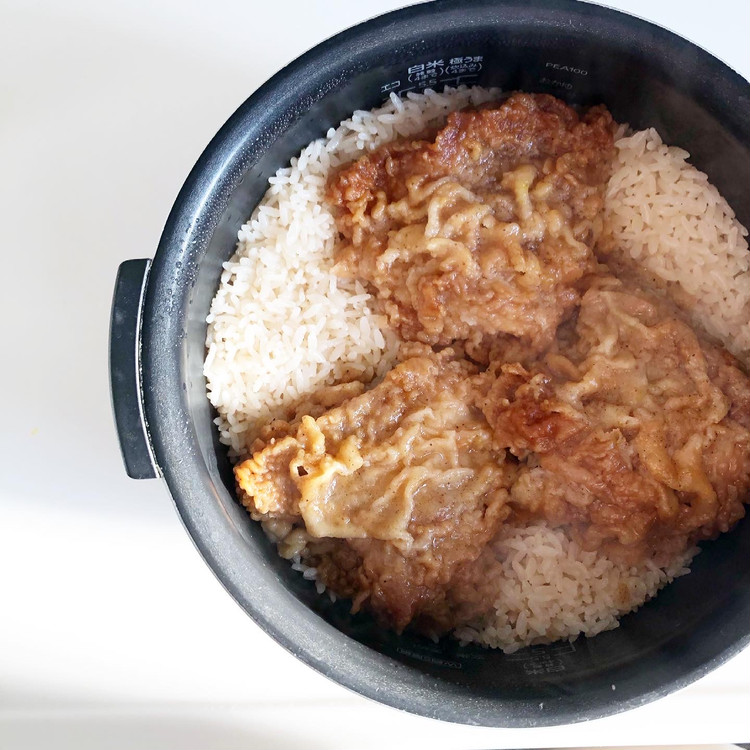 『KFCフライドチキン炊き込みご飯』を作ってみた!_4