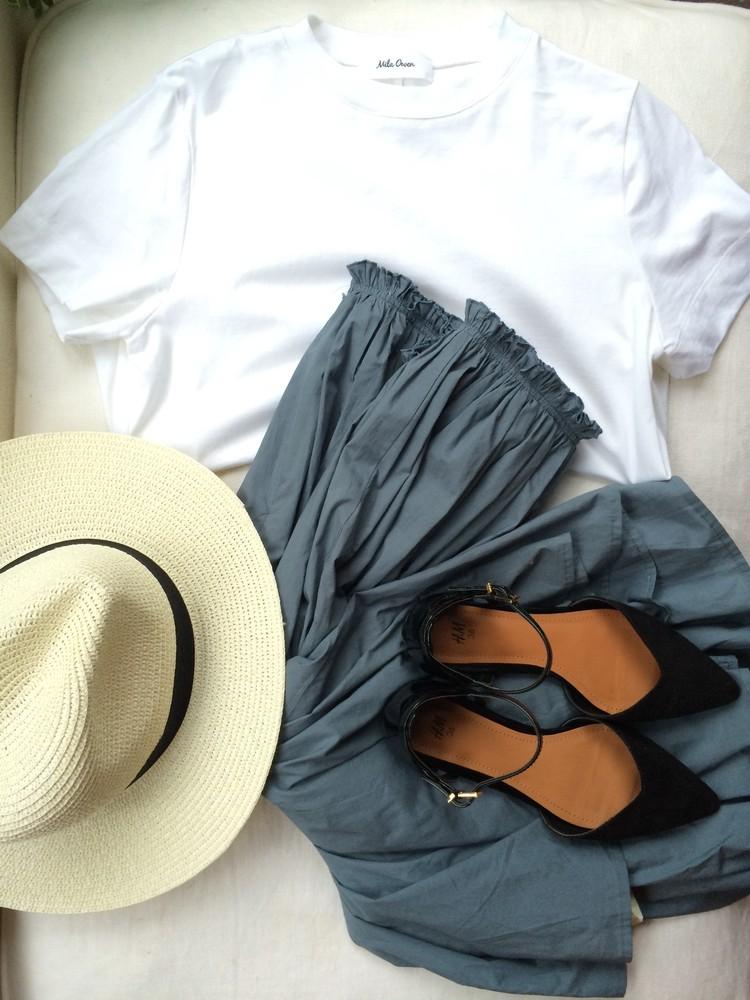 白T着る日の「タイプライタースカート」_2
