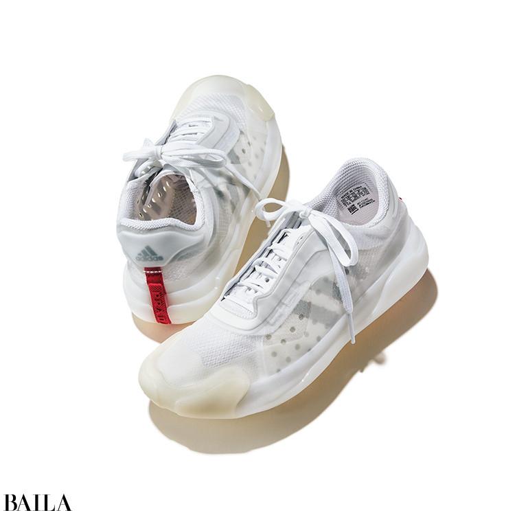 PRADA × Adidas  靴「A+P Luna Rossa 21」(0.5)¥75000(予定価格)/プラダ クライアントサービス(プラダ)