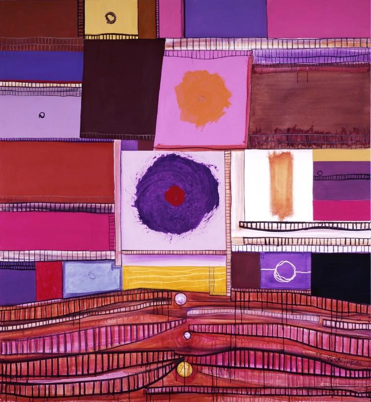 猪熊弦一郎《角と丸 BX》1977年 ©公益財団法人ミモカ美術振興財団