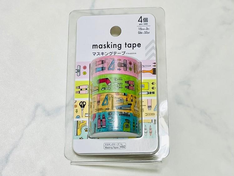 マスキングテープ4個入り写真
