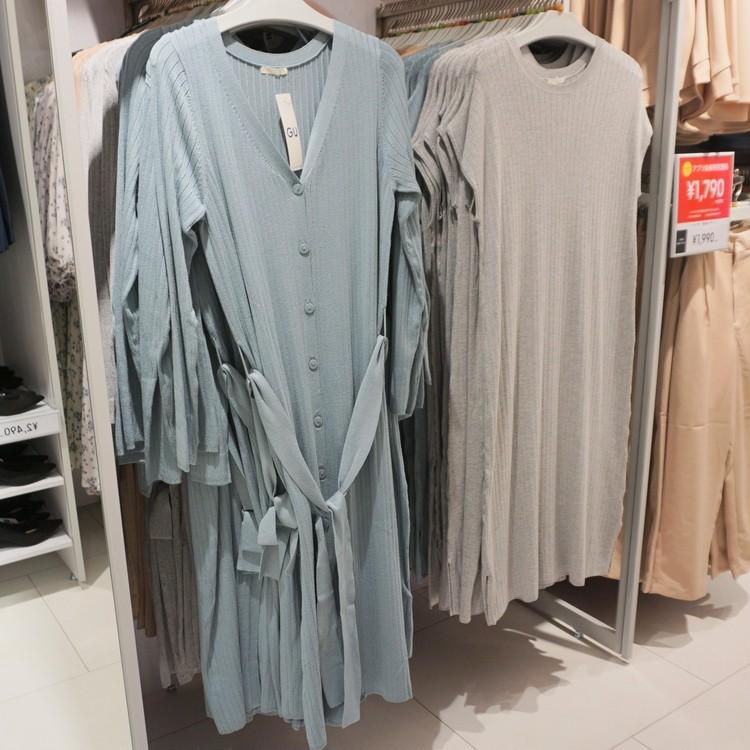 【GU(ジーユー)】渋谷店で30代女子に人気の通勤服&バッグ&シューズ12選(ロングカーディガン&ワンピース)