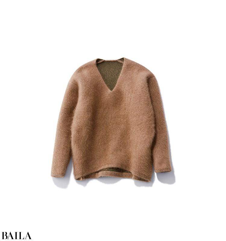 中だるみしがちな水曜日は、旬ニットに鮮やかなカラースカートを投入!【2020/1/15のコーデ】_3_3