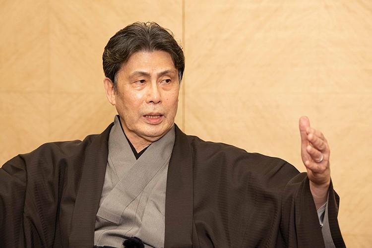松本白鸚さんの十月大歌舞伎合同取材会にて