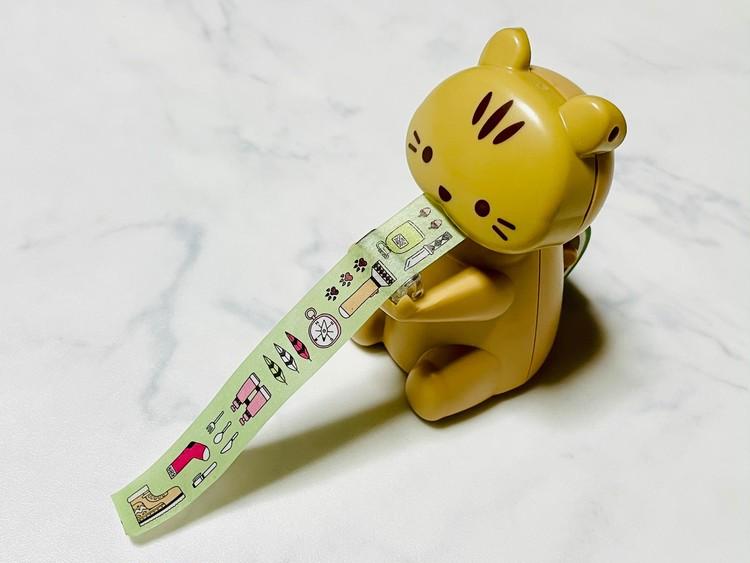 【ダイソー便利グッズ2】どうぶつマスキングテープカッターの使い方