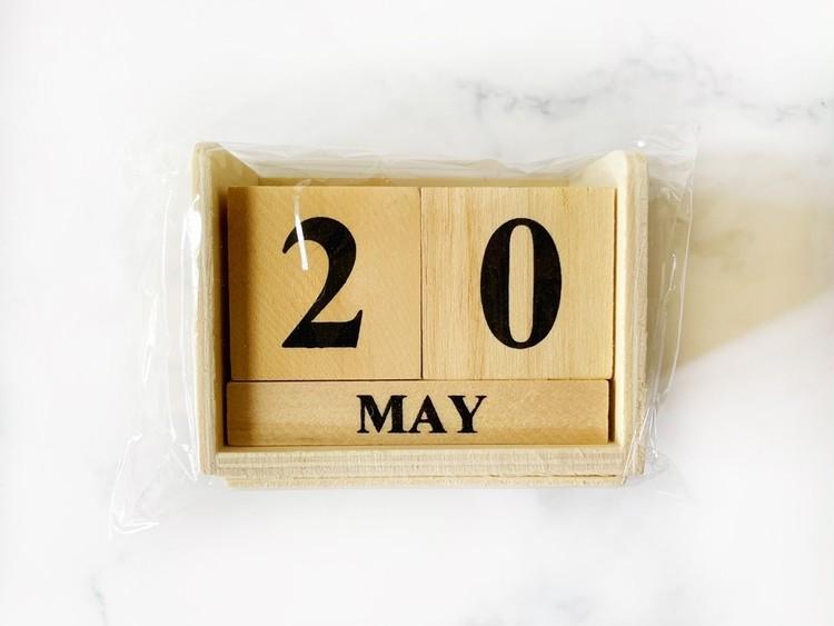 ウッドブロックカレンダーのパッケージ