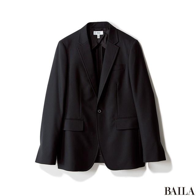 ニット×シャツで、おしゃれ&まじめな黒スタイルで通勤!_2_1