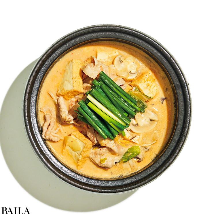 キムチ豆乳みそ鍋