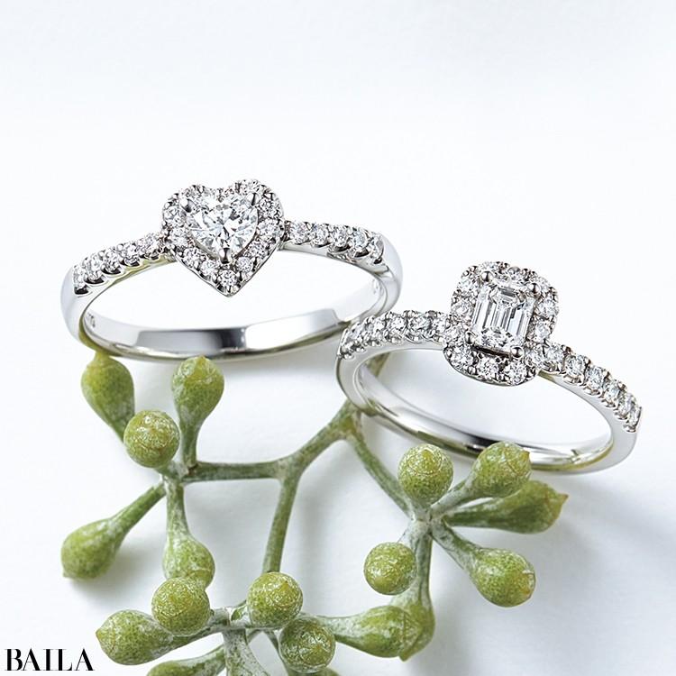 透明感のあるエメラルドカットのダイヤモンド