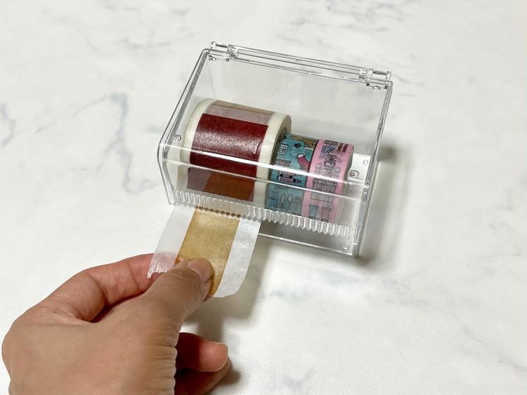 【ダイソー便利グッズ3】マスキングテープケースに太いマステを入れた画像
