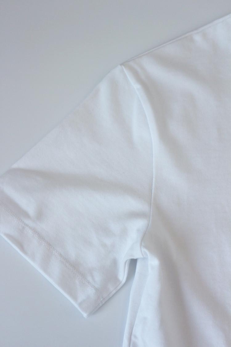 ZARAベーシックTシャツ袖