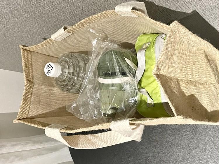【ダイソー】エコバッグとしても使えるおしゃれジュートトートバッグが優秀♡  _16