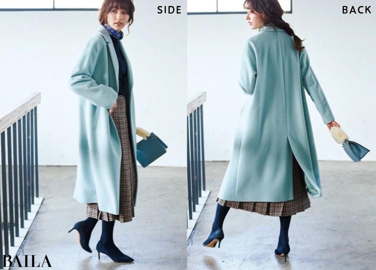 ユナイテッドアローズのきれい色ロングコート