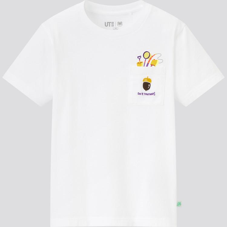 KIDS あつまれ どうぶつの森 UT グラフィックTシャツ(半袖) 白