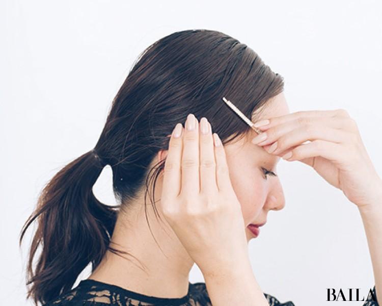 【ビジューヘアピンMIXづけ】でひとつ結びをおよばれヘアスタイルに!<動画あり>_8
