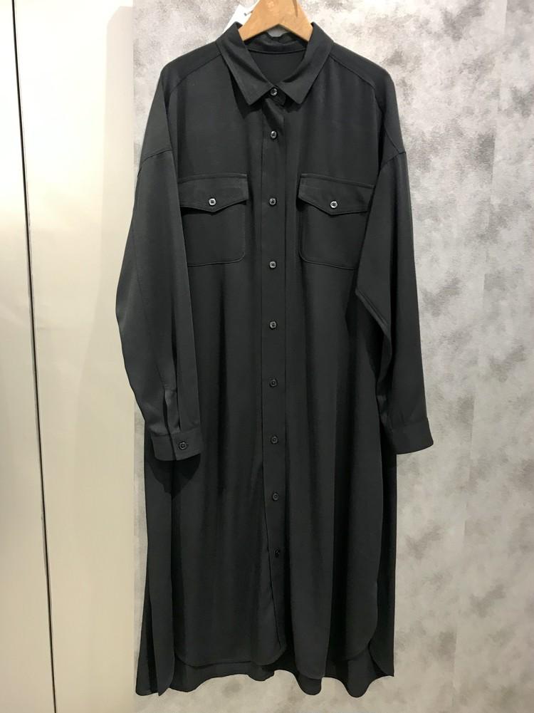 ワークシャツワンピース¥2990/ジーユー(GU)