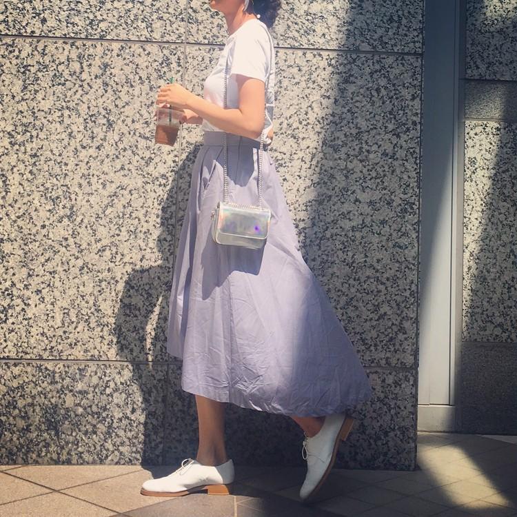 GUメンズTシャツ×ヘムラインスカート。餃子パーリー*\(^o^)/*_4