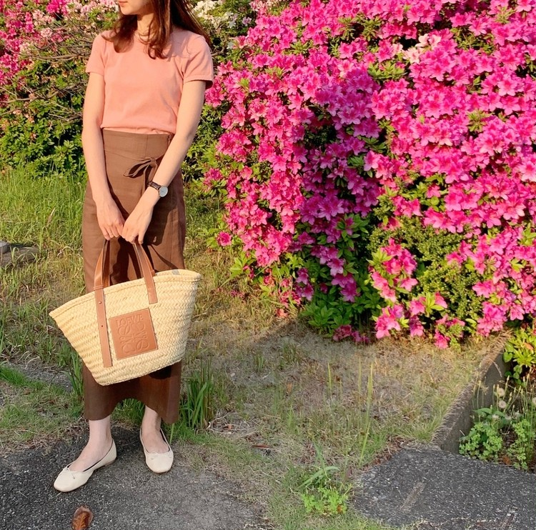 ピンク×ブラウンで大人の可愛げコーデ♡_1