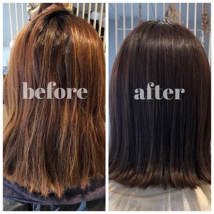 夏にオススメ‼︎暗髪なのに透明感ある涼しげヘアカラー_4