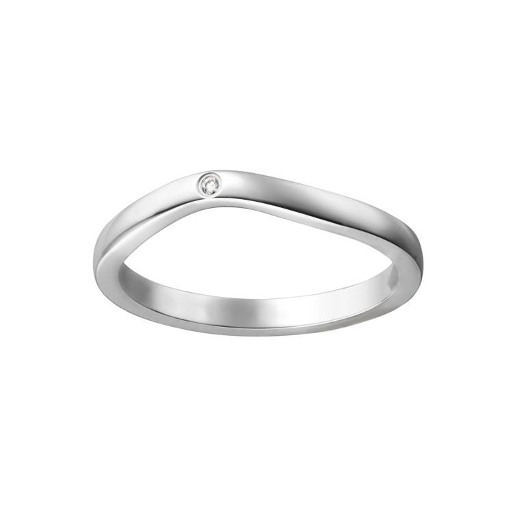 「バレリーナ」マリッジリング(PT×ダイヤモンド)¥212500/カルティエ