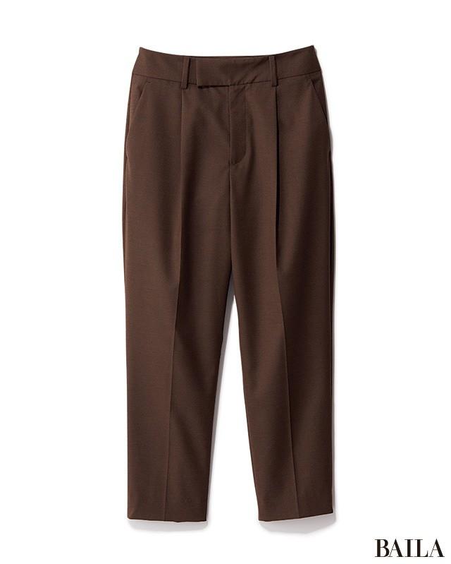 細身パンツ×ヒール靴の美脚コンビは、腰高バランスで秋バランスに_2_1