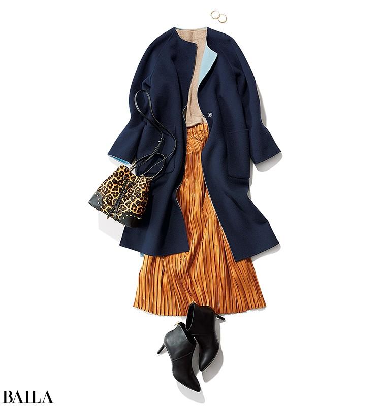 【リバーシブルコート着回し】冬の必需品はオンオフ使える流行カラーの2wayコート!_6