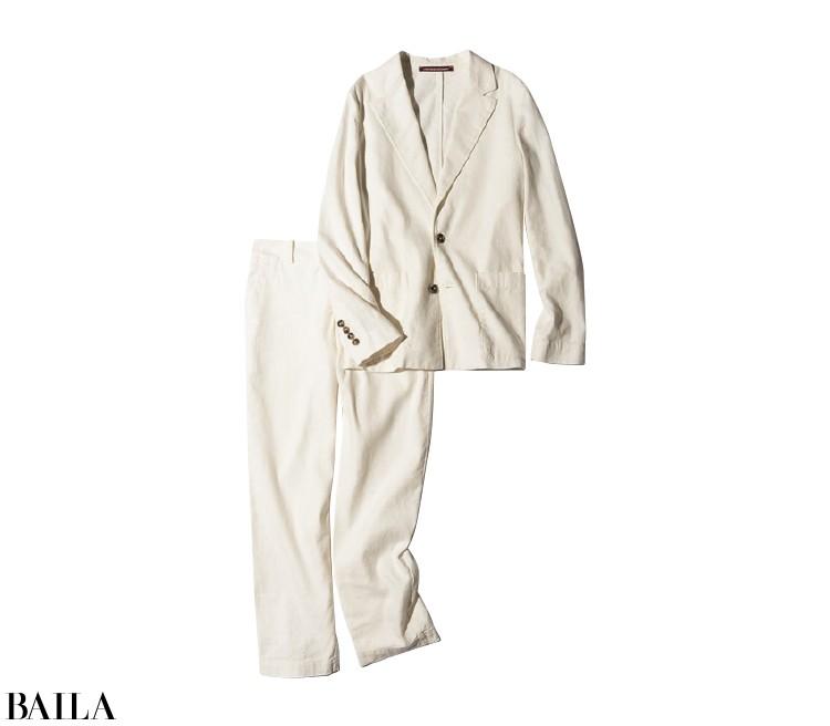 ジャケット¥21000・パンツ¥18000/コントワー・デ・コトニエジャパン(コントワー・デ・コトニエ)