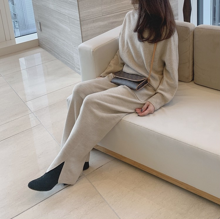 【GU】履き心地の良さが魅力「ニットワイドパンツ」コーデ②_7
