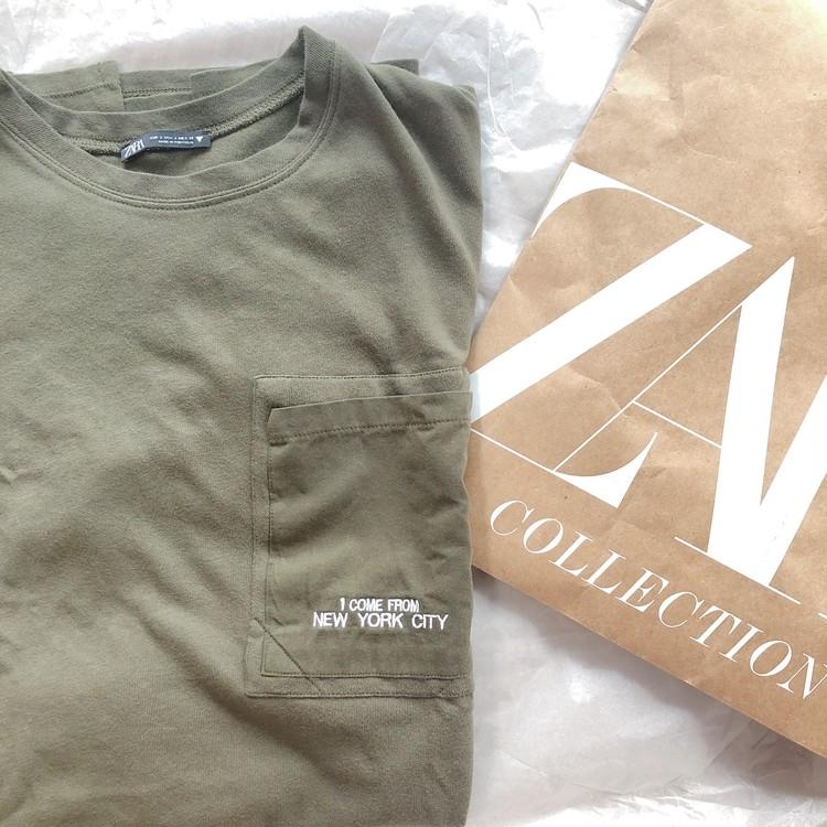 《ZARA online sale》でお得にget♡おうち時間のTシャツワンピ_1