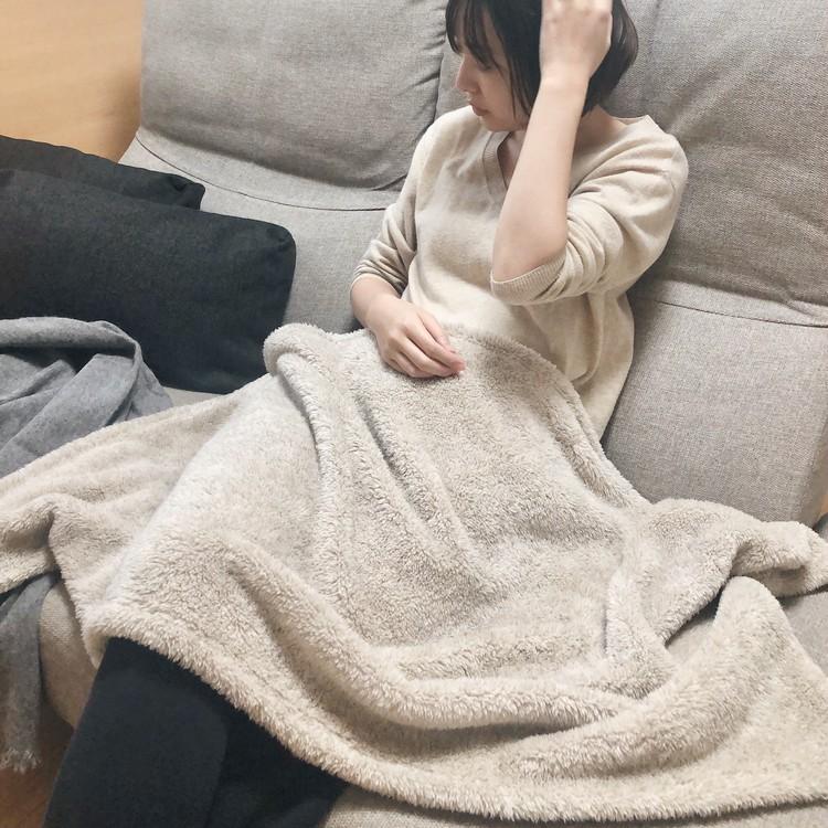 【GU新作】くまさん巾着入り♡あったかほわほわブランケットが4wayで使える!_3