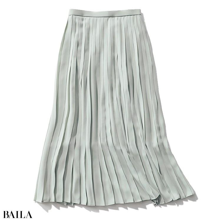 きれい色プリーツスカート