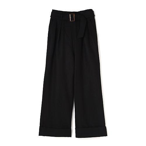 パンツでも色気が欲しいなら、ほんのり女っぽいベルテッドワイドで!_6