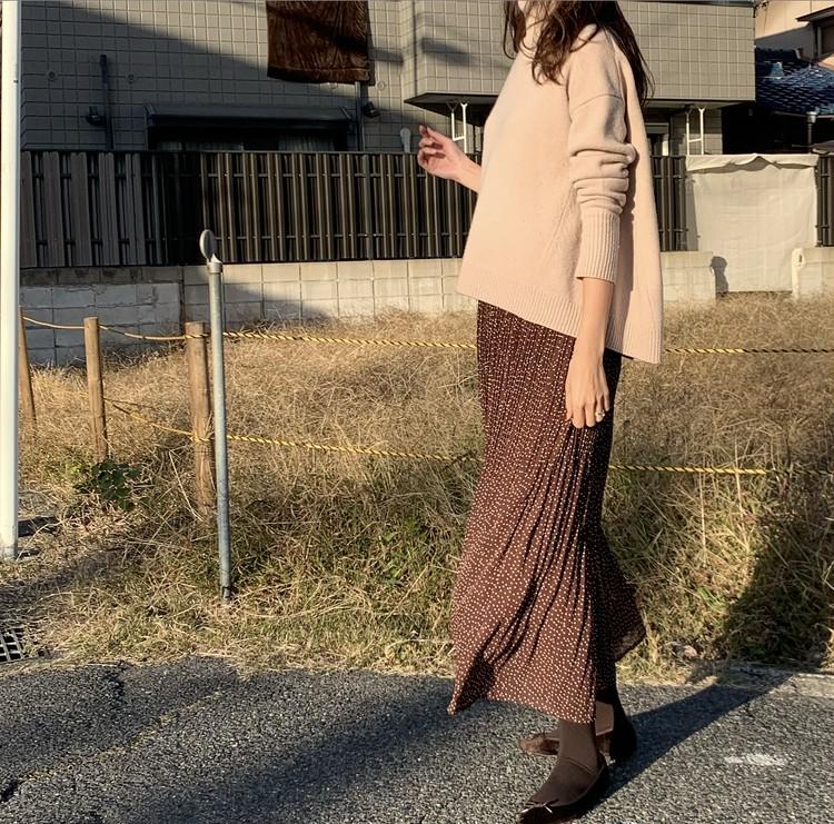 しまむらスカート×お気に入りニットで可愛げ秋コーデ♡_2