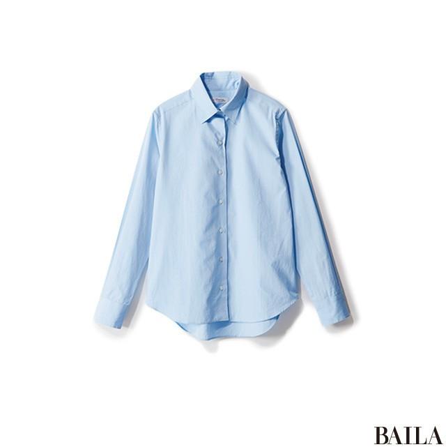 ニット×シャツで、おしゃれ&まじめな黒スタイルで通勤!_2_4