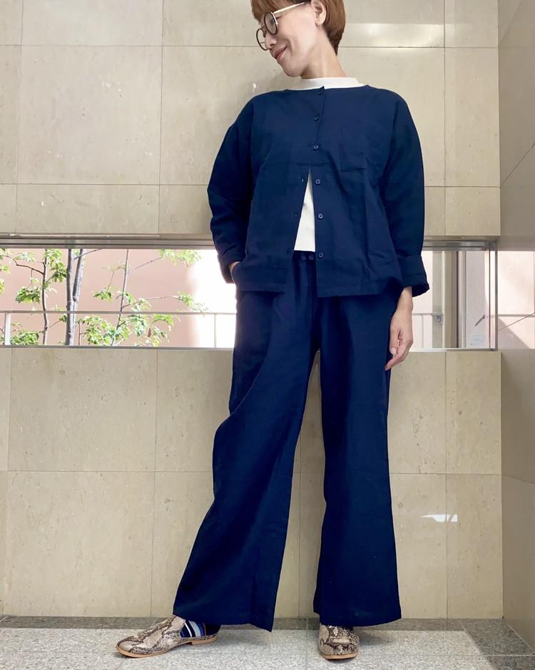 【在宅勤務&テレワーク女子へのおすすめ服】ジーユー(GU)オーガニックコットンパジャマでラクちんきれいめコーデに挑戦_12