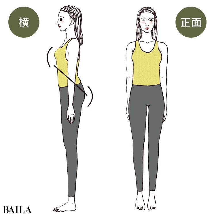 上重心でメリハリのある体つきが特徴のストレートタイプ
