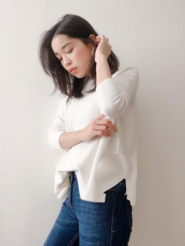 【UNIQLOで一目惚れ♡】カシミヤブレンドのボートネックニット♡_1