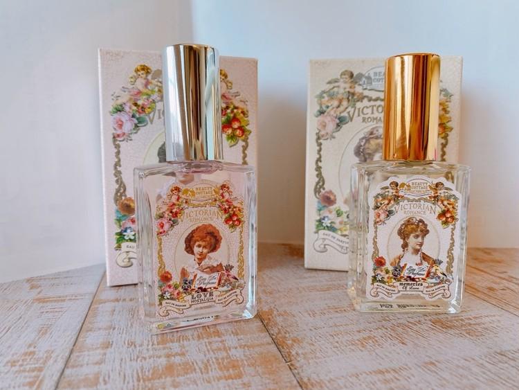 タイコスメ「Beauty Cottage」の香水(ビューティーコテージ)のビクトリアンロマンスシリーズ、「メモリーオブラブ」、「ラブノスタルジア」