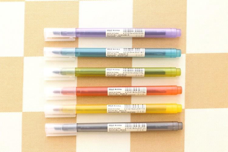 無印良品のラインマーカーが3色増えて全6色に