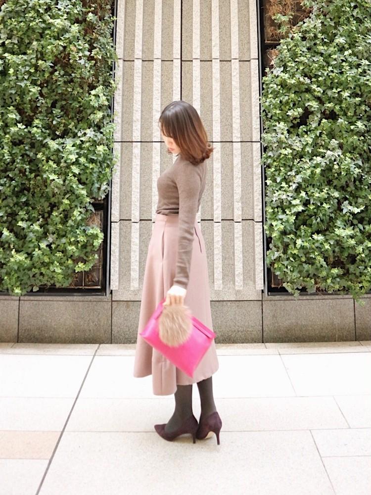 まろやかブラウンコーデ>>モカ×くすみピンクをで女っぽく。_2
