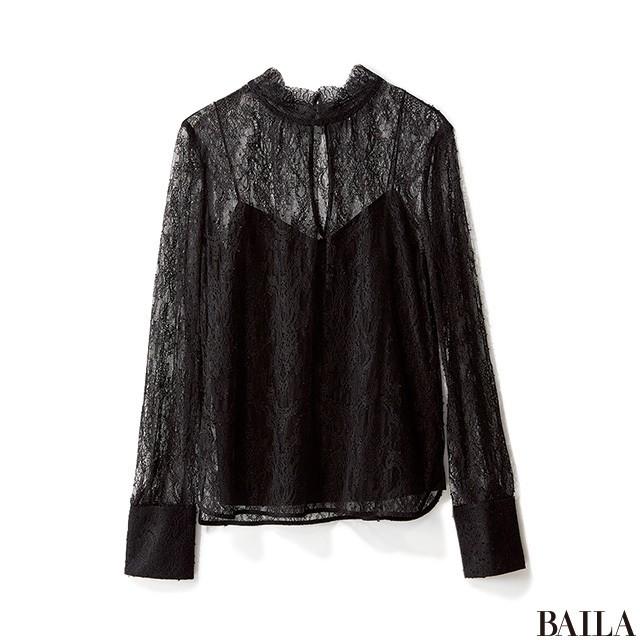 休日リラックススタイルも、黒のスカートでちゃんと女らしく!_2_1