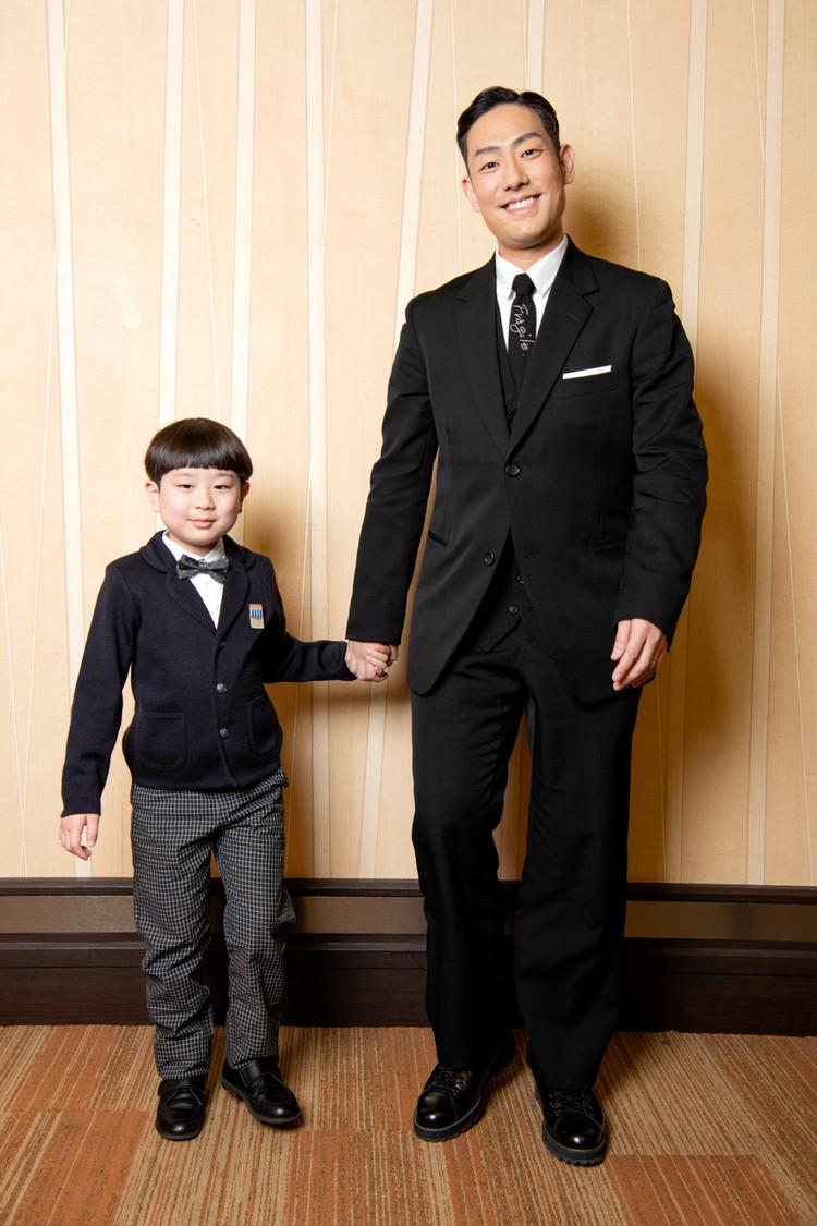 コクーン歌舞伎合同取材会で仲良し親子の中村勘九郎と長三郎
