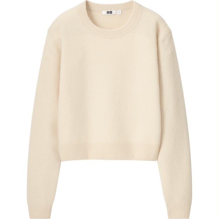 プレミアムラムクロップドセーター(長袖)¥2,990
