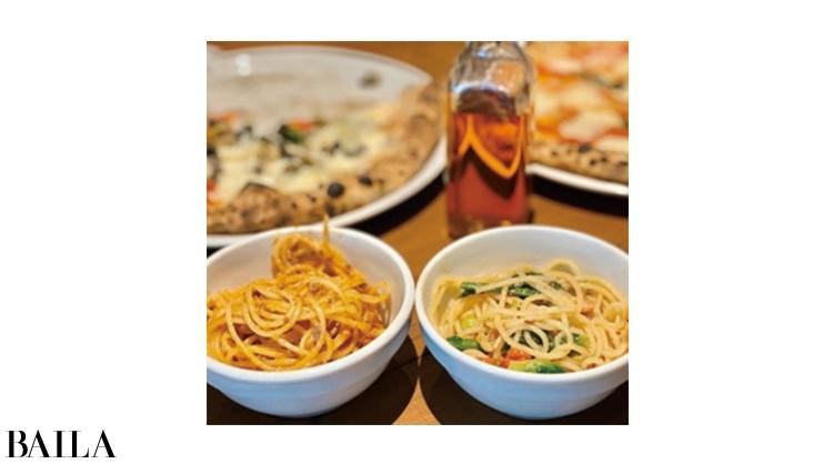 「昼は会社のお姉さまたちとおしゃれランチでパスタ・ピザを……。夜はサラダのみで充分だった」