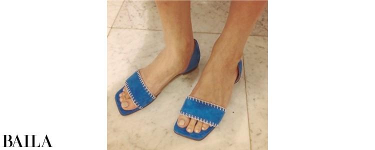 靴(ブルー)「ネブローニ」(辻さん私物)