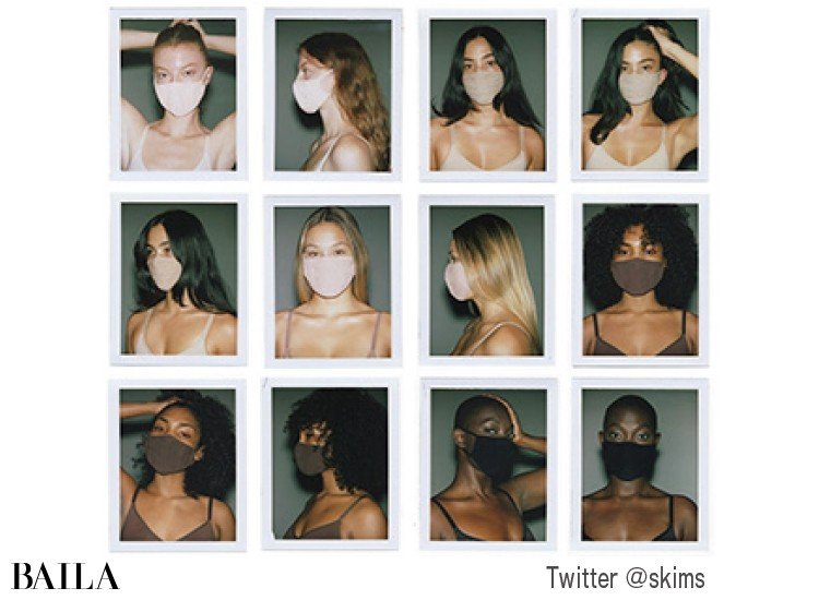 キムが発売した繰り返し使える布マスク